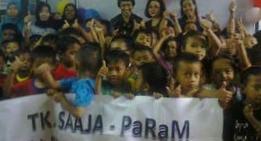 Peringati Hari Kartini Siswa anak jalanan TK SAAJA PaRaM  merajut peduli kebersamaan